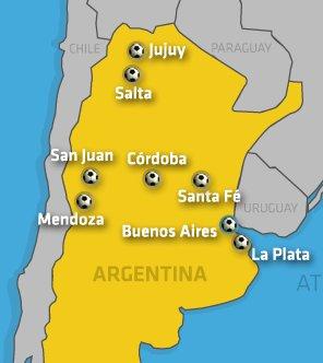 Host Cities bei der Copa América 2011